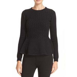 Ted Baker Mereda Cable Knit Peplum Sweater